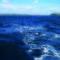 La balena. Sulla destra l'isolotto di Santo Stefano, all'orizzonte Ventotene, detta la balena per la sua morfologia