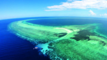 Aerial View of Tubbataha Reef, Philippines